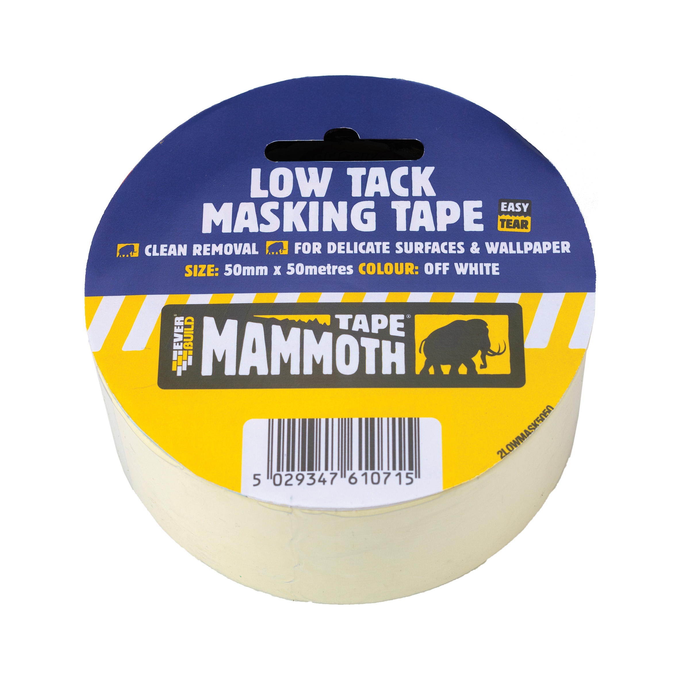 Low Tack Masking Tape 25mm X 25mtr Off White